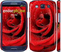 "Чохол на Samsung Galaxy S3 i9300 Червона троянда ""529c-11"""