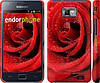 "Чехол на Samsung Galaxy S2 i9100 Красная роза ""529c-14"""
