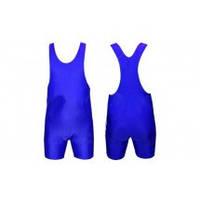 Трико для борьбы и тяжелой атлетики, пауэрлифтинга CO-238-BL синий (бифлекс, р-р S-2XL (RUS 42-52))