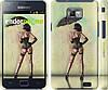 """Чехол на Samsung Galaxy S2 i9100 Девушка с зонтиком """"751c-14"""""""