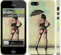 "Чехол на iPhone 5s Девушка с зонтиком ""751c-21"""