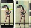 "Чехол на Sony Xperia Z3 D6603 Девушка с зонтиком ""751c-58"""