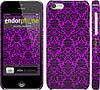 """Чехол на iPhone 5c фиолетовый узор барокко """"1615c-23"""""""