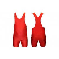 Трико для борьбы и тяжелой атлетики, пауэрлифтинга CO-238-R красный (бифлекс, р-р S-XL (RUS 42-50))
