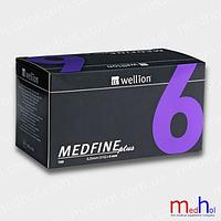 Иголки для инсулиновых шприц ручек Wellion 6 мм №100