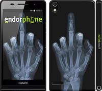 """Чехол на Huawei Ascend P6 Рука через рентген """"1007c-39"""""""