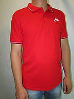 Мужская футболка Найк 7830 красная код 064в