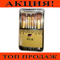 Кисточки для макияжа Kylie (12шт) Profesional brush set- Silver!Хит цена
