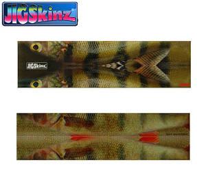 Плёнка-шкура BFT JigSkinz для Strike Pro Buster Jerk, 3 размера, 6 шт., цвет Окунь