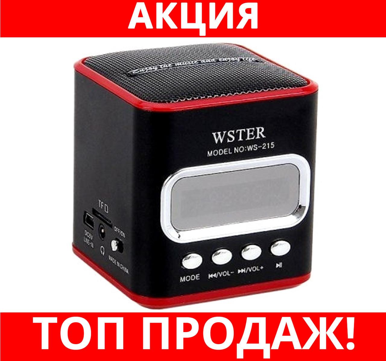 Портативная колонка USB CardReader FM WS-215!Хит цена