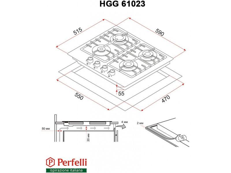 Варочная поверхность Perfelli HGG 61023 BL