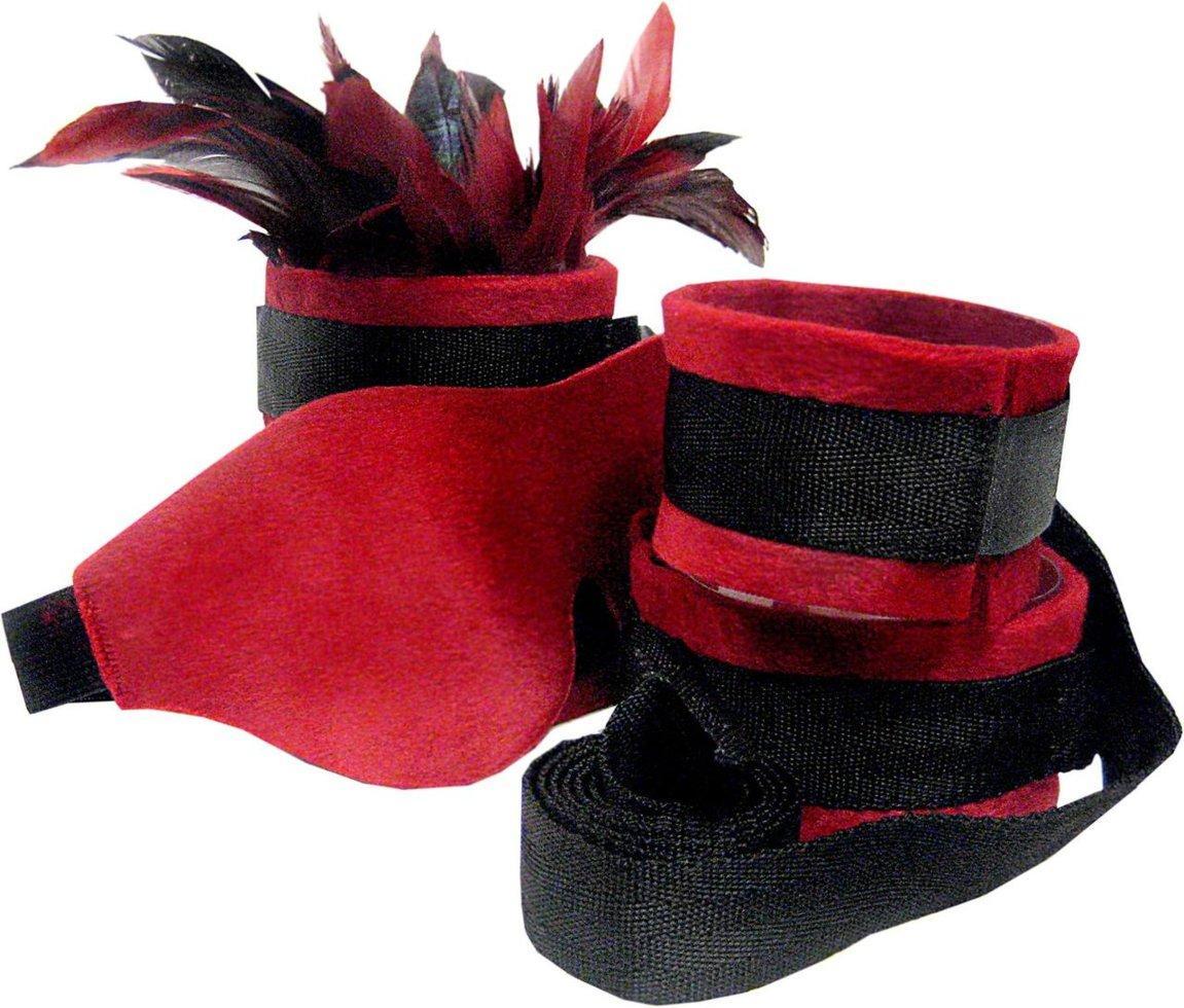 Набор для BDSM Sportsheets - Sexy Slave Kit Черно-красный