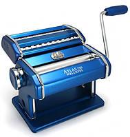 Marcato Atlas 150 Blu тесторезка - тестораскаточная машина домашняя бытовая ручная для дома
