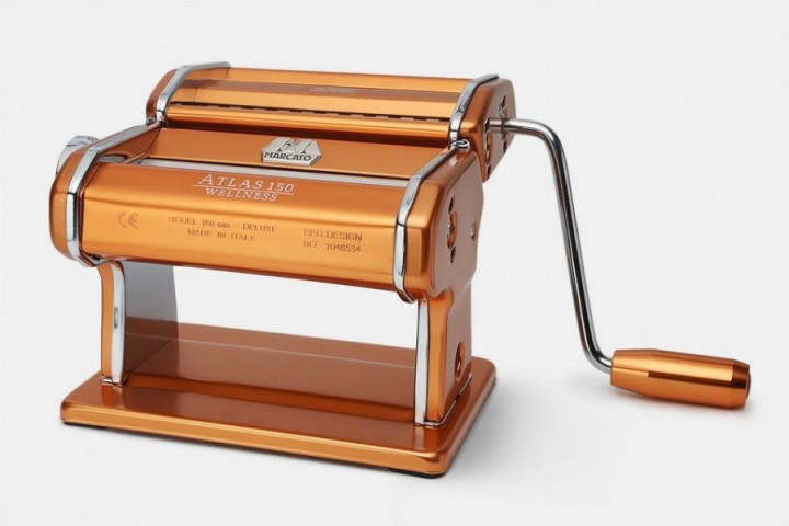 Marcato Atlas 150 Rame тесторезка - тестораскаточная машина домашняя бытовая ручная для дома