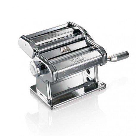 Marcato Atlas 150 Argento тесторезка - тестораскаточная машина домашняя бытовая ручная для дома