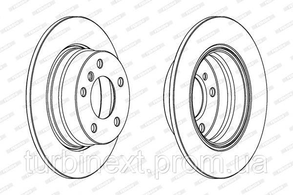 Тормозной диск задний BMW E87 1- 1.6 1.8 04- FERODO DDF1303C