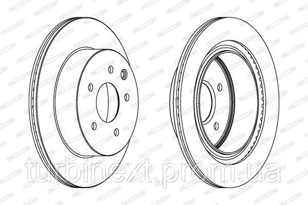Тормозной диск задний NISSAN QASHQAI 1.6-2.0DCI 07-,X-TRAIL 2.0-2.5 01-;RENAULT KOLEOS 2.0DCI FERODO DDF1579