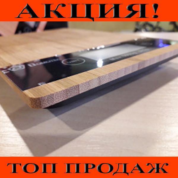 Электронные кухонные деревянные весы на 5 кг Dоmotec MS-A!Хит цена