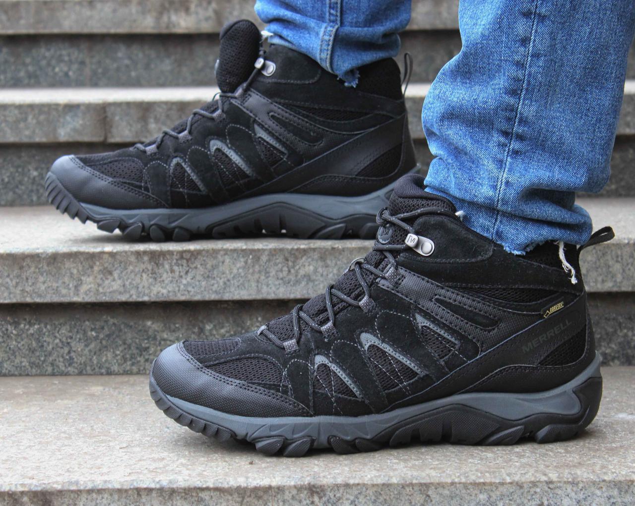 Мужские черные зимние ботинки Merrell Outmost Mid Ventilator Gore-Tex J09505