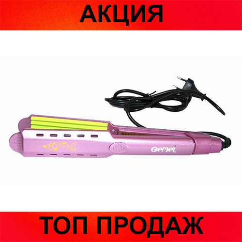 Утюжок-гофре для волос Gemei GM-2957!Хит цена