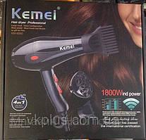 Профессиональный фен для волос Kemei KM 8860, 1800 W