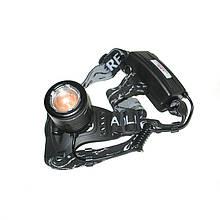 Налобный аккумуляторный фонарь Police BL-2177-T6 с зумом