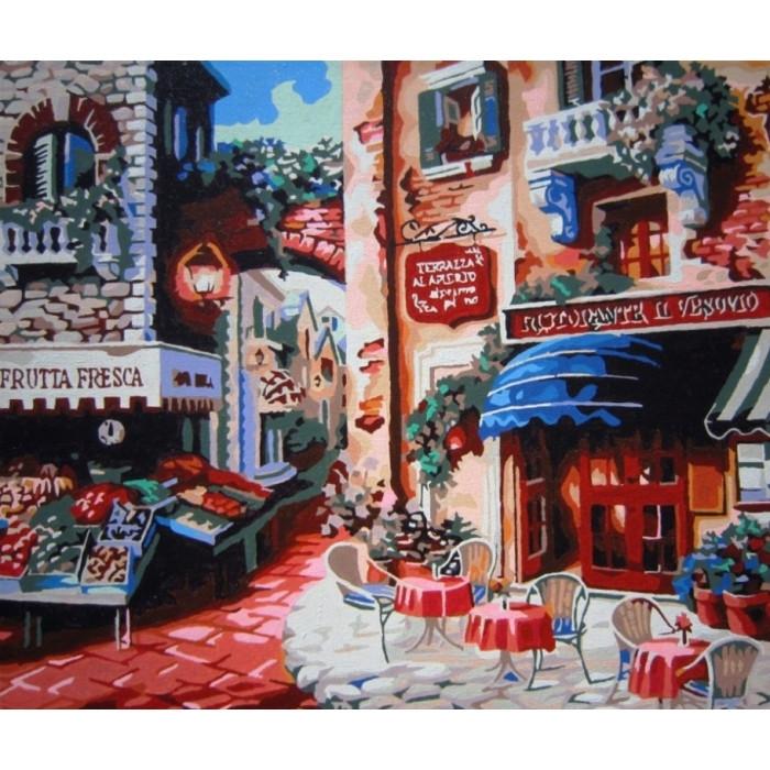Картина по номерам Кафе на углу улицы КНО078 40x50см Идейка