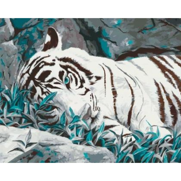 Картина по номерам Белый тигр КНО2453 40x50см Идейка