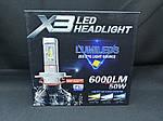 Светодиодная лампаLED X3 H7 Lumileds ZES 6000K 6000Lm, фото 2