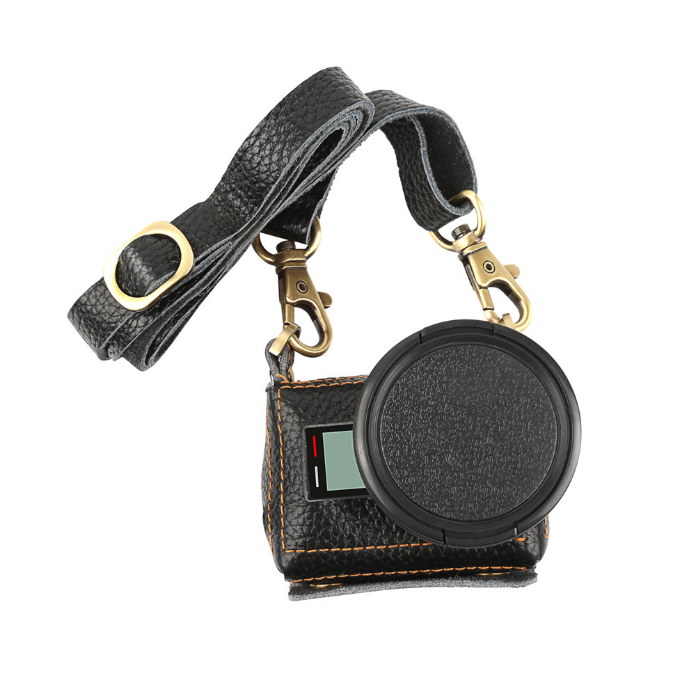Кожаный футляр, чехол Shoot для камер GoPro Hero 5, 6, 7 (код XTGP391) - черный