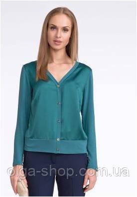 Блузка, кофточка женская зеленая с длинным рукавом SUNWEAR