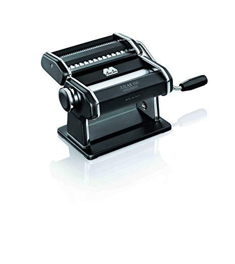 Marcato Atlas 150 Nero тесторезка - тестораскаточная машина домашняя бытовая ручная для дома