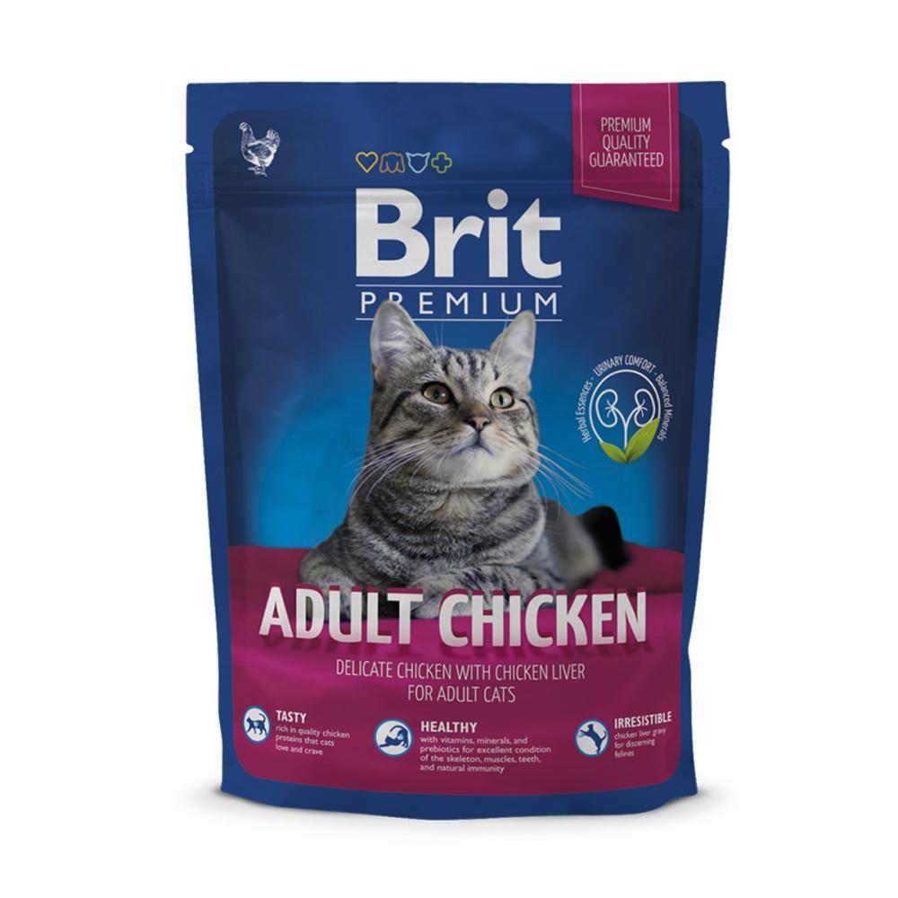 Корм для котов Brit Premium Cat Adult Chicken 0,3кг