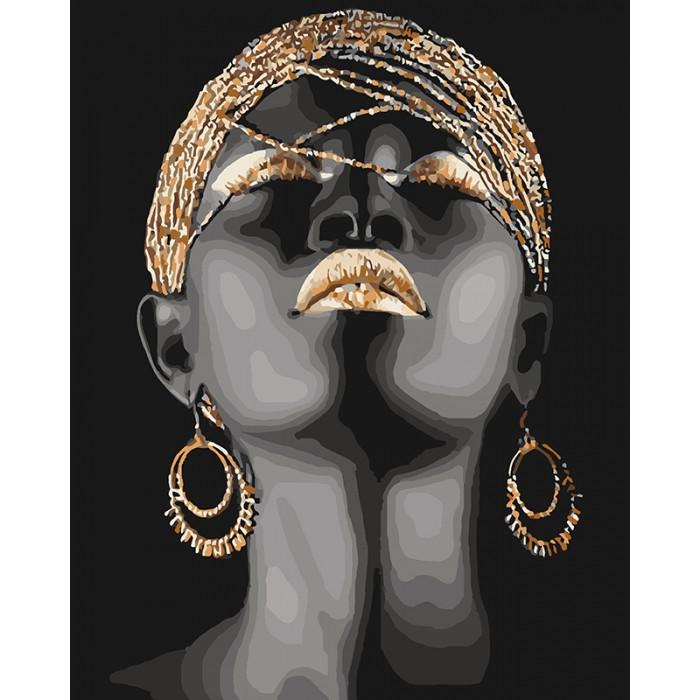 Картина по номерам Африканська принцесса КНО4559 40x50см Идейка