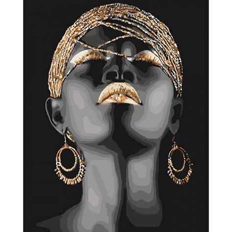 Картина по номерам Африканська принцесса КНО4559 40x50см Идейка, фото 2