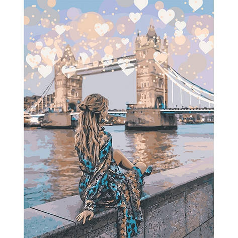 Картина по номерам Романтичний Лондон КНО4574 40x50см Идейка, фото 2