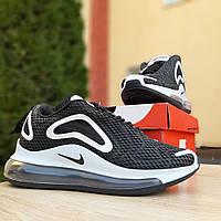 Кроссовки Nike Air Max 720 женские, черные, в стиле Найк Аир Макс 720, резина, текстиль код OD-2929