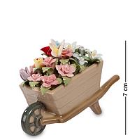 """Композиция тележка """"Весенние цветы"""" Pavone 7 см"""