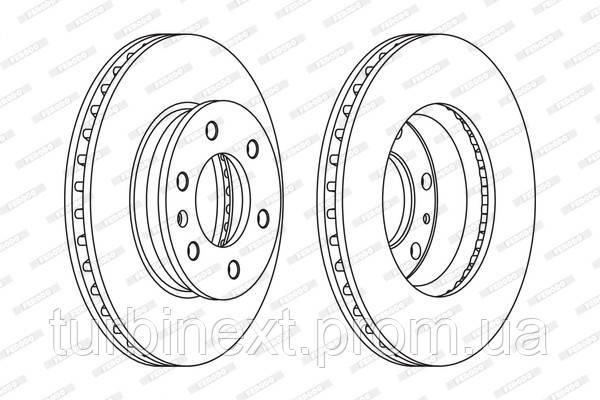 Тормозной диск передний MB VW SPRINTER 04.06-, VW CRAFTER 30/35/50 FERODO FCR310A