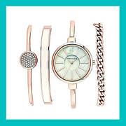 Часы в подарочной упаковке ANNE KLEIN Rose Gold White