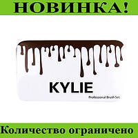 Кисточки для макияжа Kylie (12шт) Profesional brush set- Broun!Розница и Опт