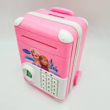 Копилка-сейф детская Холодное Сердце с кодовым замком и отпечатком пальца, фото 3