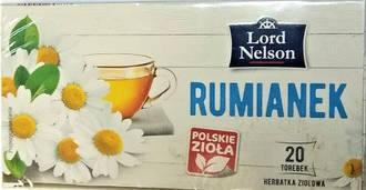 Чай пакетированный Lord Nelson Rumianek 20 пакетов