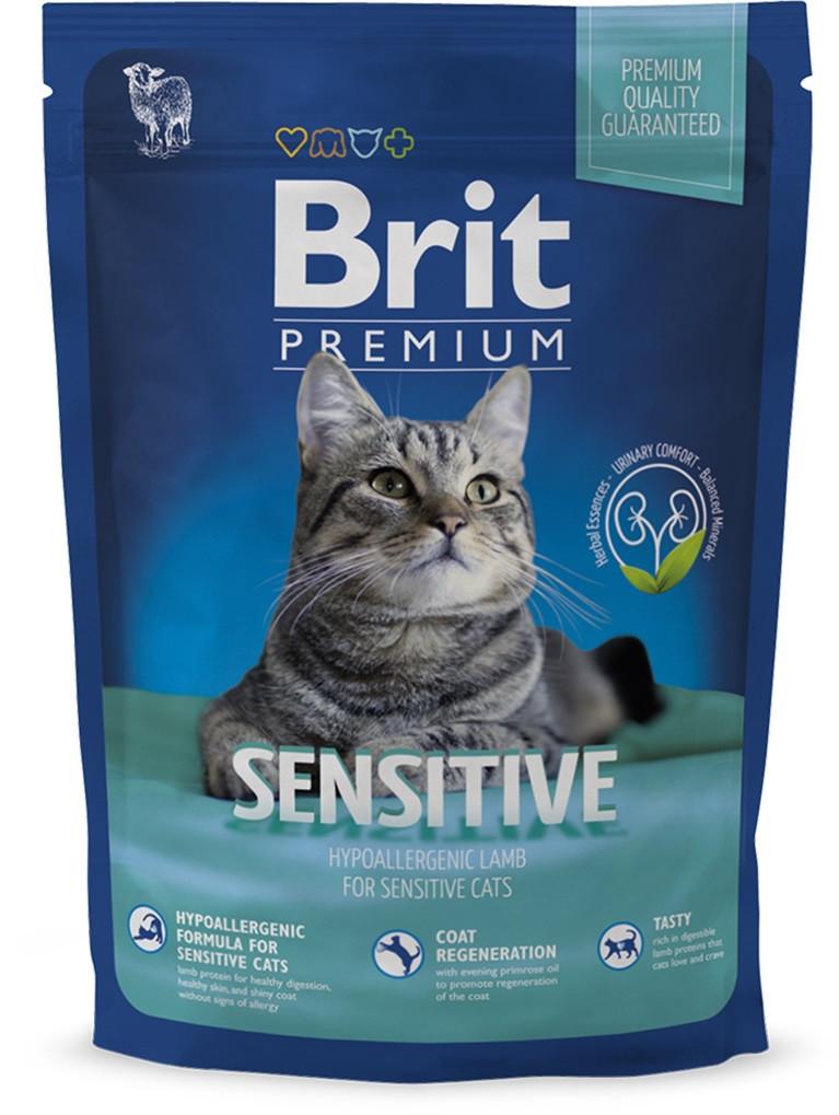 Корм для котов Brit Premium Cat Sensitive 0,3кг