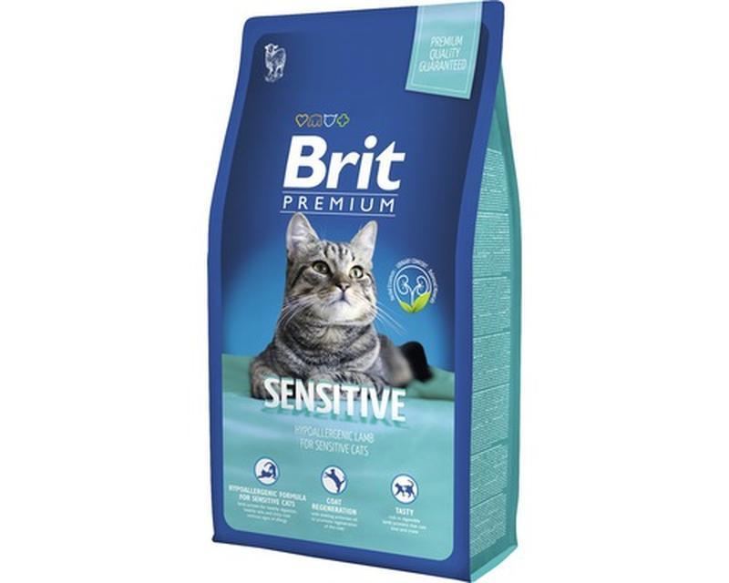 Корм для котов Brit Premium Cat Sensitive 8кг