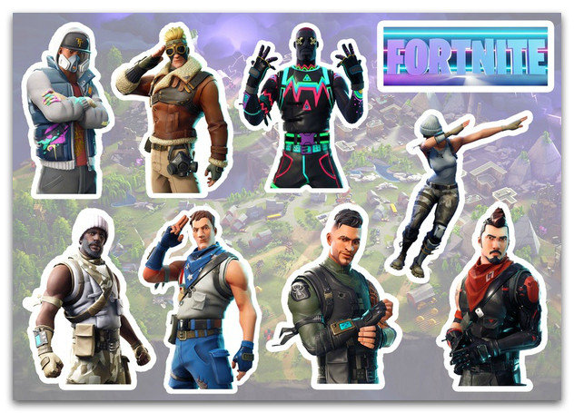 Stickers Pack Fortnite, Фортнайт #252