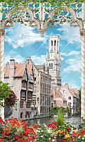 Фотообои на флизелиновой основе - Город в арке вертик . (ширина рулона -1,03м)