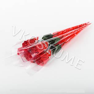 """Подарочный букет с розой из ароматного мыла """"Love"""", красный, фото 2"""
