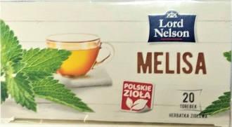 Чай пакетированный Lord Nelson Melisa 20 пакетов