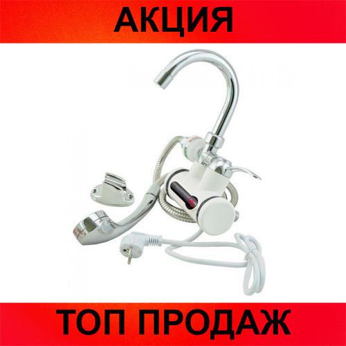 Проточный водонагреватель с душем на кран!Хит цена